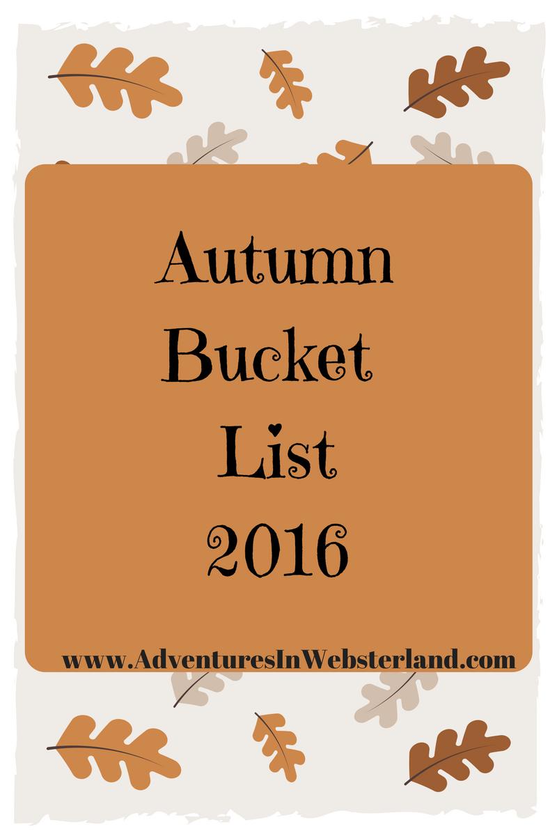 Our Autumn Bucket List {2016}