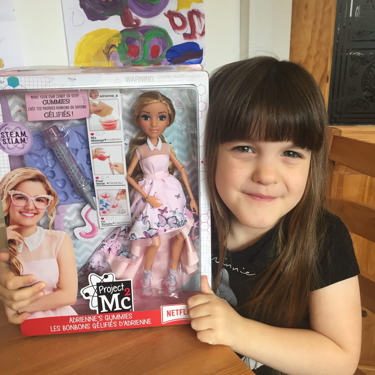 Project Mc2 doll with experiments Adrienne