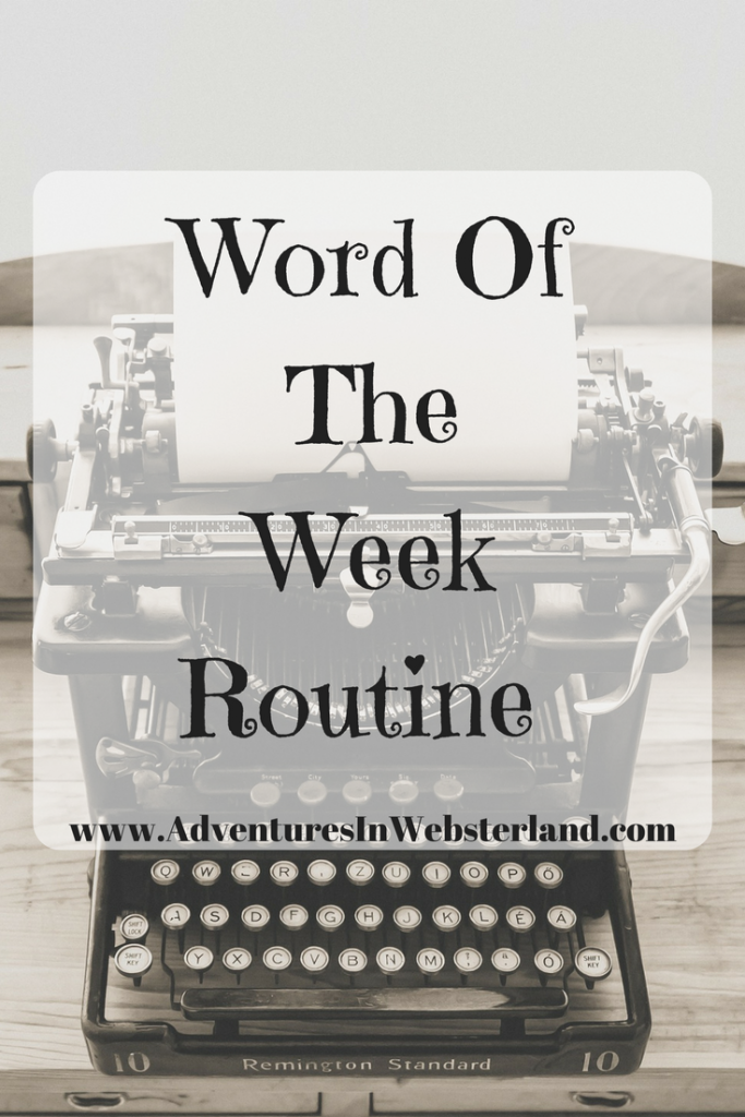Word of the Week – Routine
