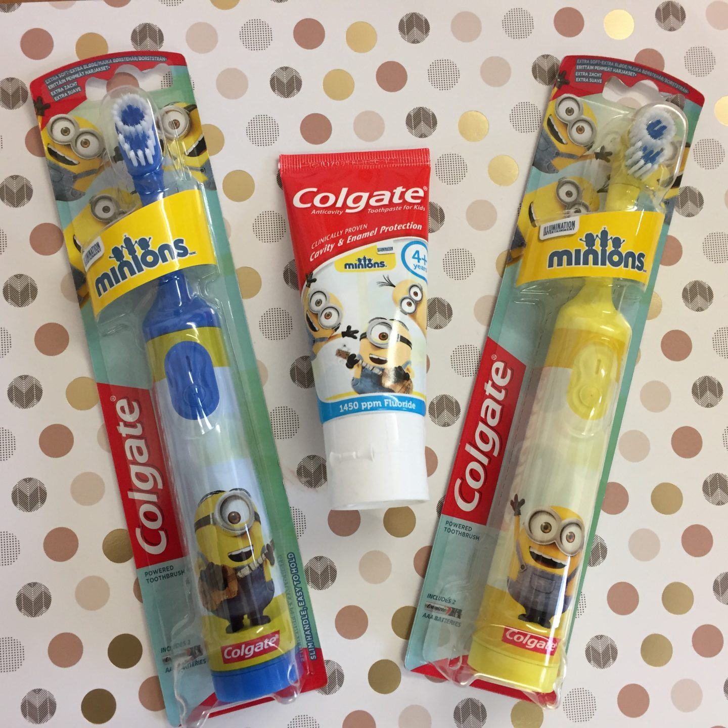 Colgate Minions tooth brush products