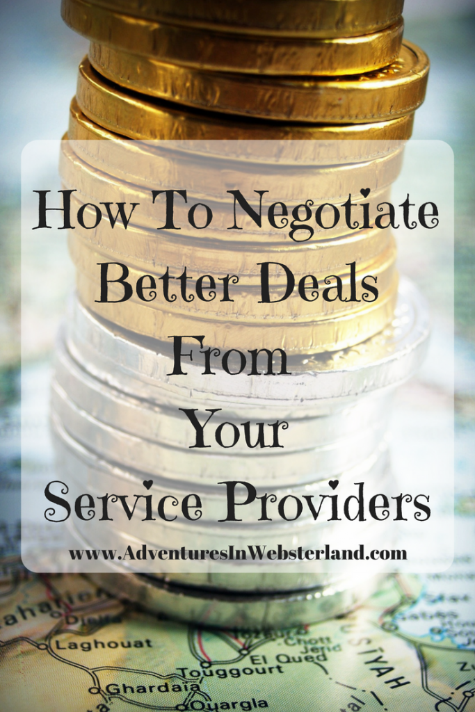 How To Negotiate Better Deals From Your Service Providers