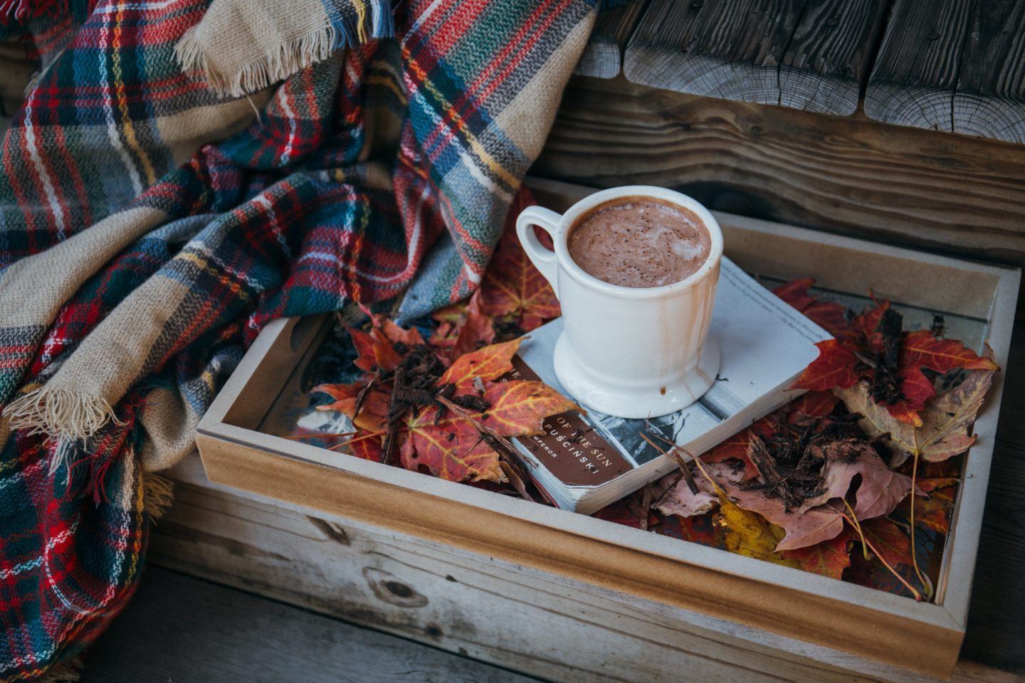 Autumn leaves hot chocolate self care