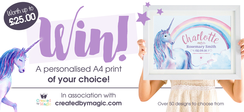 Personalised Prints From Created By Magic {Review & Giveaway}