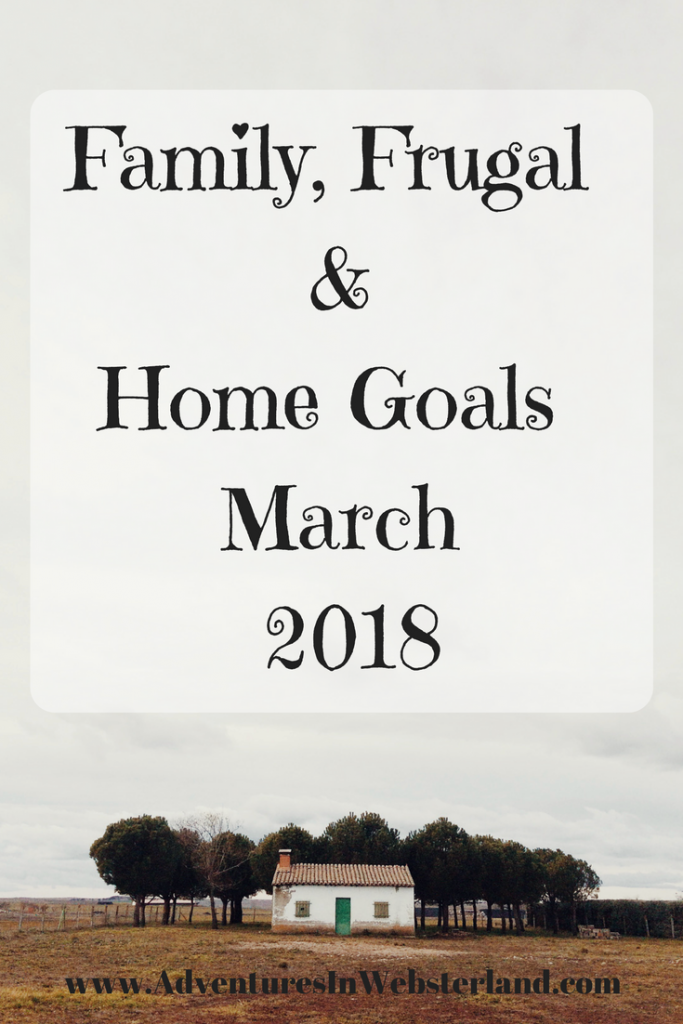 Family, Frugal & Home Goals For March {2018}
