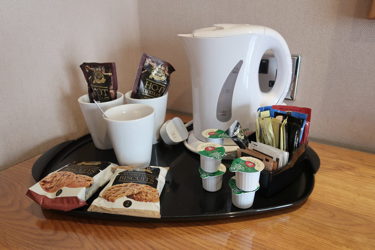 tea and coffee tray park hall hotel