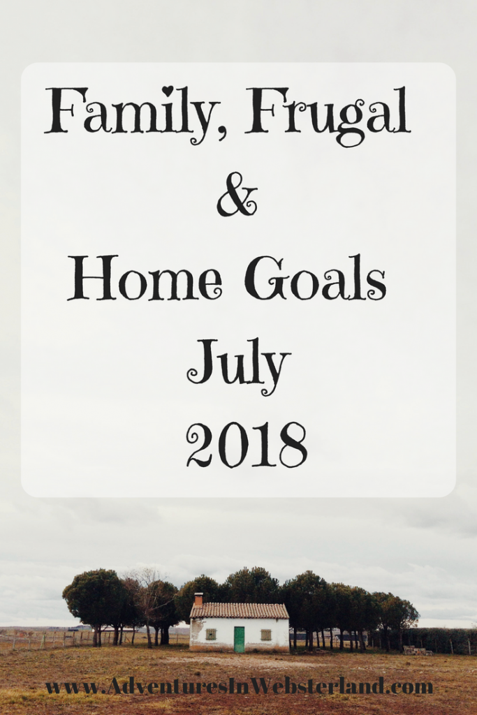 Family, Frugal & Home Goals For July {2018}