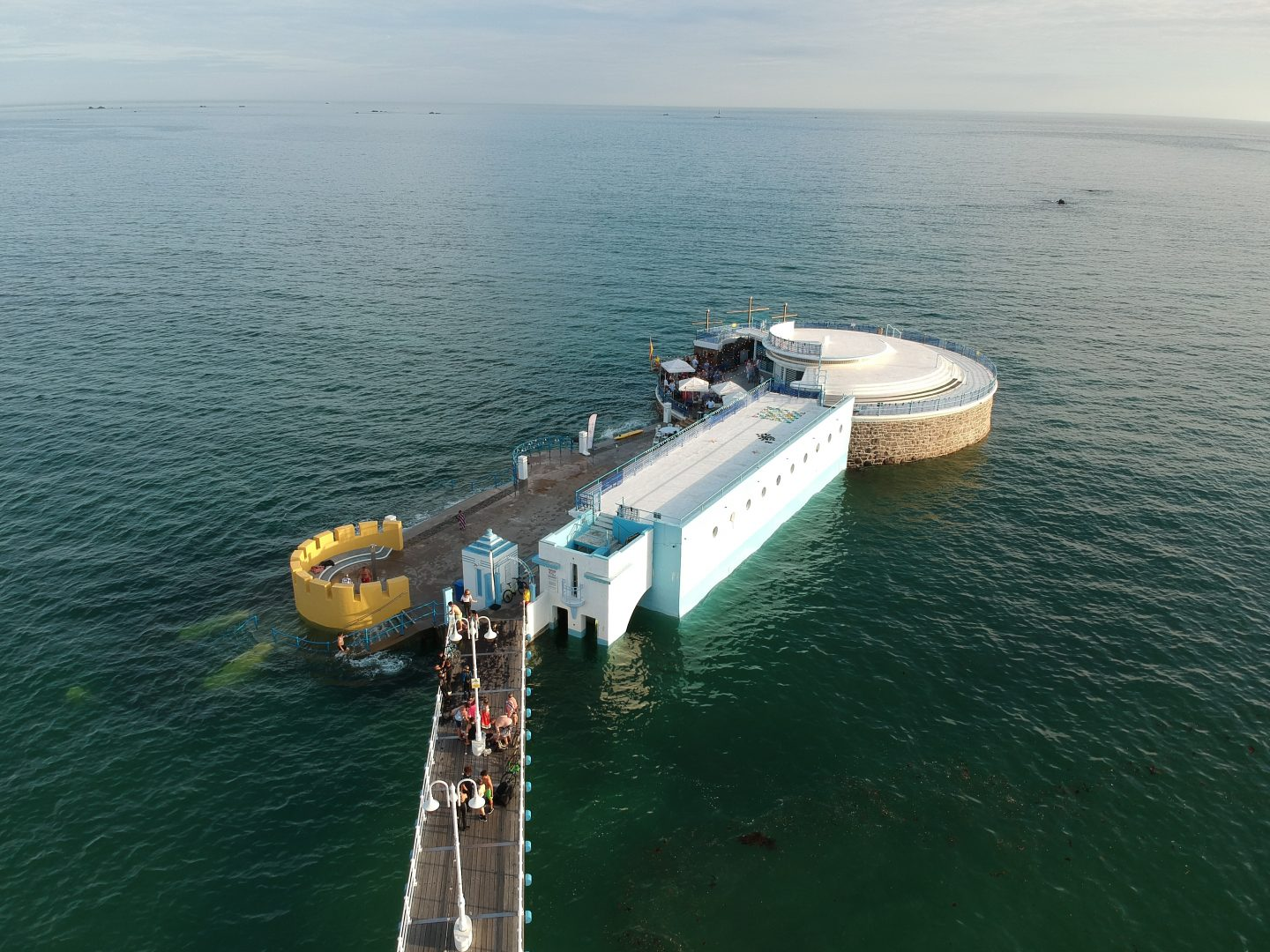 Havre des Pas pier and lido swimming pool Ommaroo Hotel In Jersey