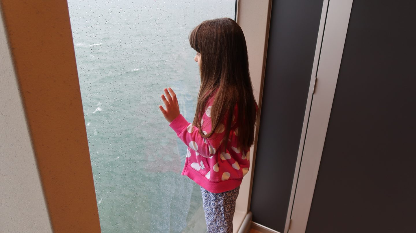 Travelling To Jersey With Condor Ferries Review Adventures In Feryys Maroon Girl Looking Out Sea The Liberation