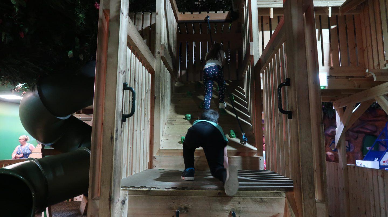 children climbing on indoor play area Tamba Park Jersey