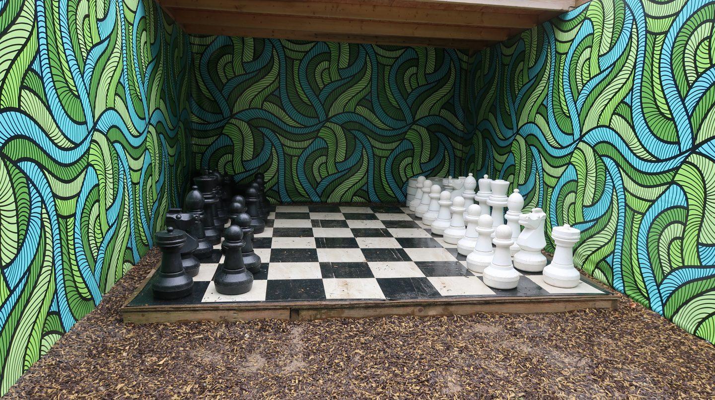 giant chess set Tamba Park Jersey