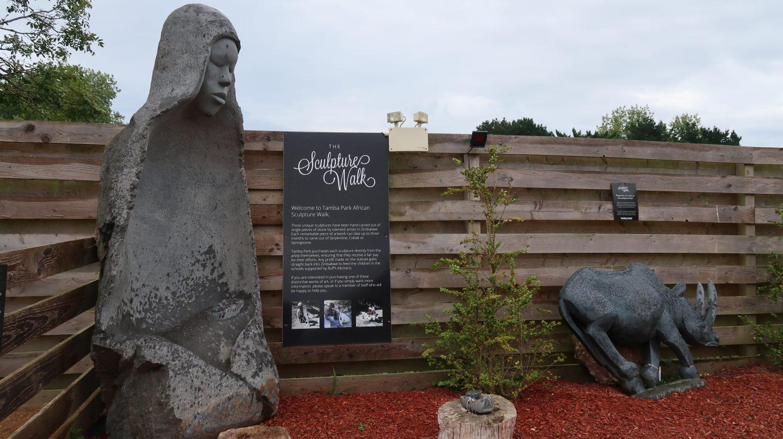 sculpture walk Tamba Park Jersey