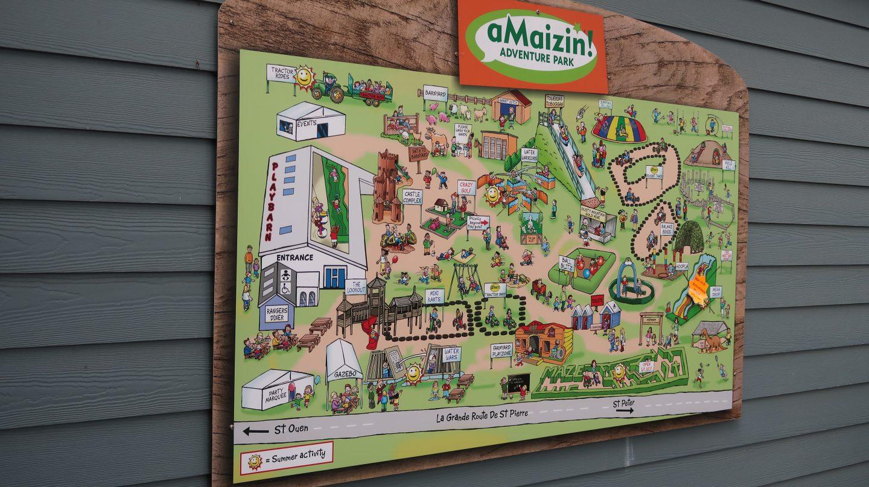 Map of aMaizin! adventure park jersey