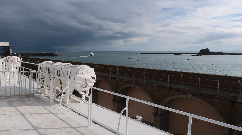 observation deck of The Condor Liberation condor ferries