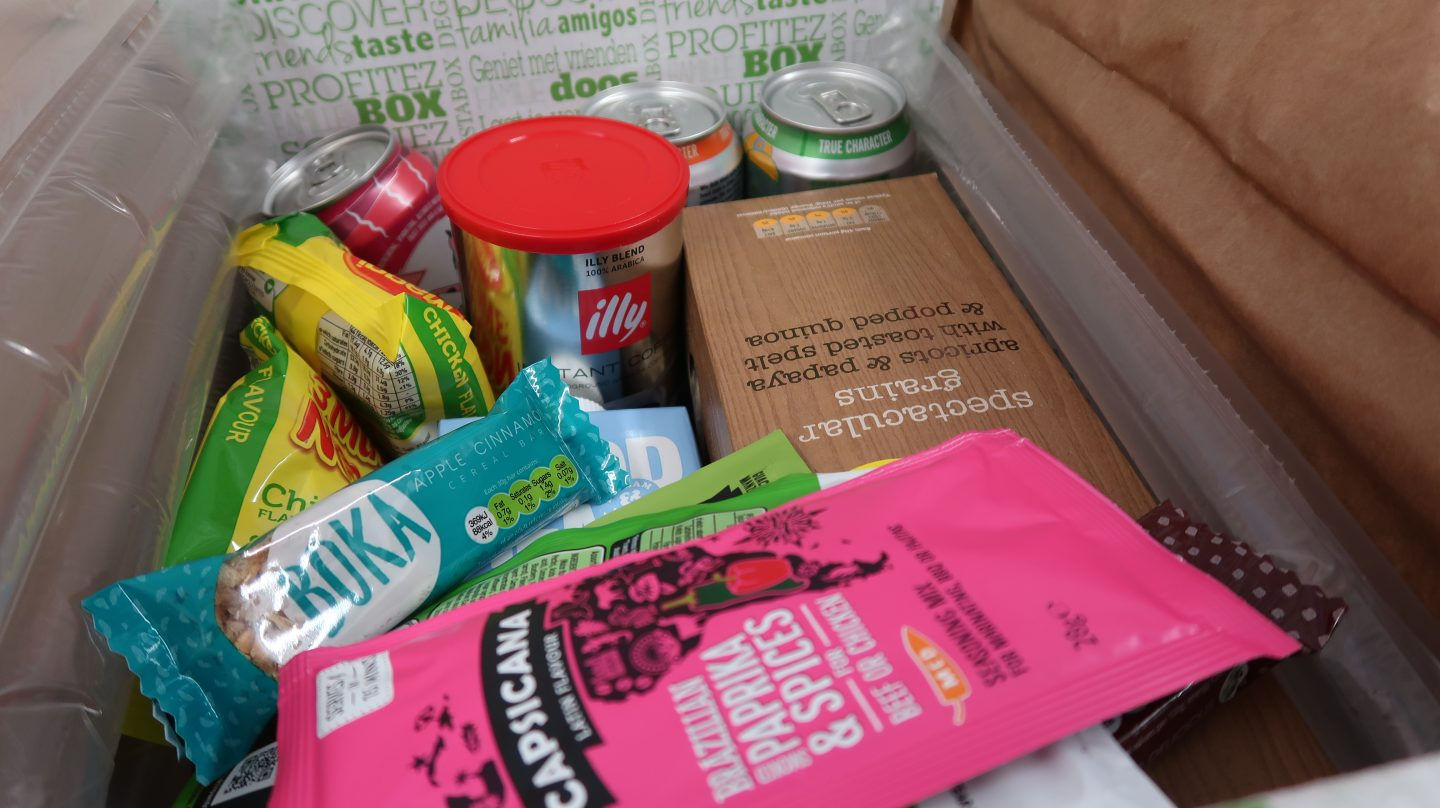 Degustabox contents August 2018