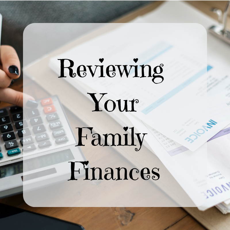 Reviewing Your Family Finances